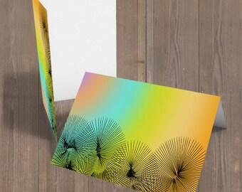 dandelion artwork, dandelion painting, dandelion wall art, rainbow abstract painting, colorful wall art large, office art canvas, office art