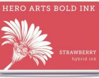 Hero Arts Strawberry Ink Pad AF334, red hybrid ink, stamping, papercrafting, scrapbook