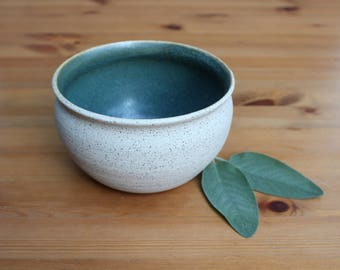 Speckled green ceramic bowl, cactus planter, succulent planter, handmade pottery