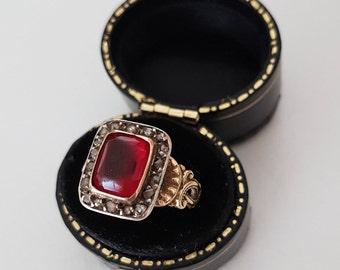 Victorian 18ct Diamond Paste Ring