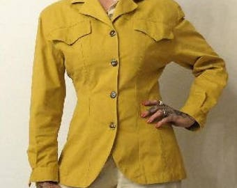 On sale 40% (was 90 euros) jacket mustard years 1980, E:Coveri