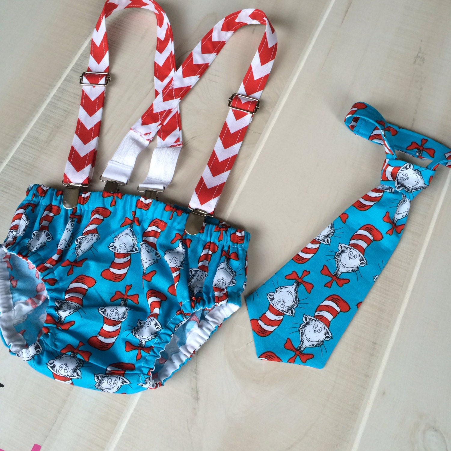 Dr. Seuss 1st Birthday Dr Seuss Diaper Cover Suspenders And