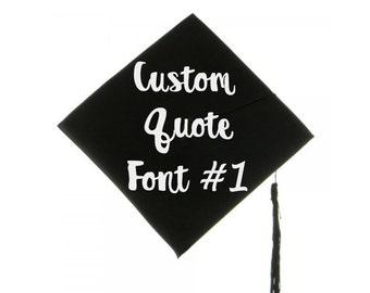 Graduation Cap Decal Graduation Cap Decoration Custom Grad Cap Quote Decal Grad Cap Iron On Graduation Message