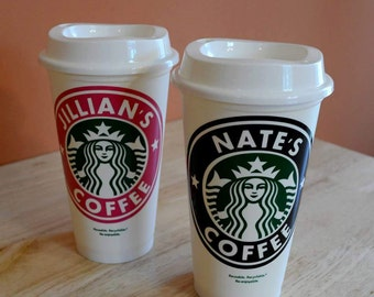 DIY Personalized Vinyl Decal for Starbucks Cup - Starbucks Cup Decal Only - Starbucks Cup Sticker