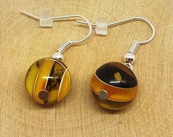 Baltic amber earrings .Amber earrings.Jewelry.Handmade.Handmade earrings.Handmade jewelry.Gift for her.Amber beads.Natural amber.Gemstone