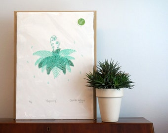 Beginning - Fern Screen Print
