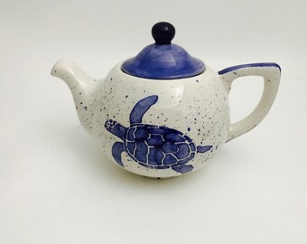 Tea Pot. Turtle.Tea Pot. Tea. Pot. Coffee. Hot. Chocolate. Handmade By Sara Hunter