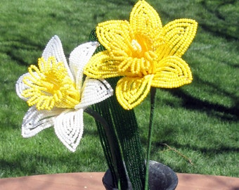 Daffodils - Dee's Beaded Flowers