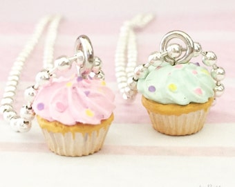 Delicious Sprinkle Cupcake Necklace by Chic Baby Rose