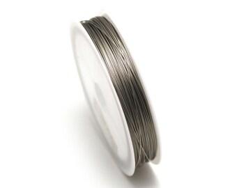 Cable leader, 0.5 mm (reel 100 m), color: steel