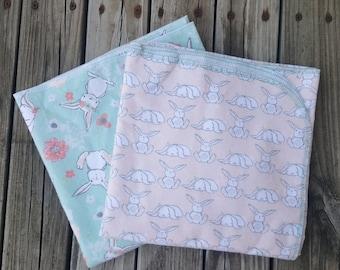 Woodland baby blanket set, extra large receiving blanket, extra large swaddle blanket