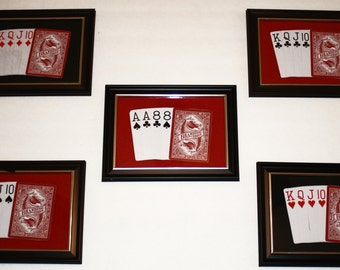 Unique Poker Hand Wall Art / Poker cards