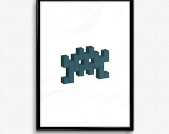 Space Invader - Blue
