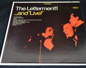 Vintage Vinyl Record The Lettermen... And Live! Album ST-2758