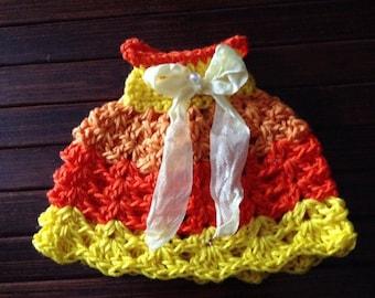 CLEARANCE SALE - Neo Blythe Crochet Dress - Orange Yellows
