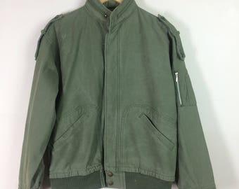 Vintage Army Bomber Jacket Size M