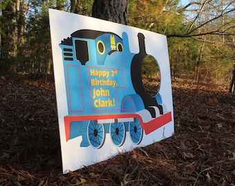 Thomas the Train Birthday Photo Booth, Photo Prop