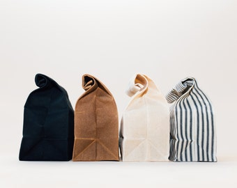 Lunch Bag // Brown Bag // Waxed Canvas Lunch Bag // Lunch Bags // Canvas Lunch Bag