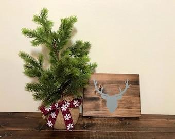 Deer Christmas Sign - Christmas decor
