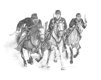Civil War cavalry art print