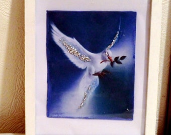 Mother's Day Gift. The dove of peace- Inspired by picasso pablo