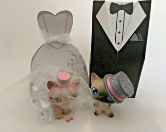 Littlest Pet Shop Easter LPS Wedding Set Bride and Groom outfits! (Pets NOT Included)# 3