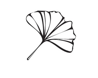 Ginkgo Leaf Mounted Rubber Stamp