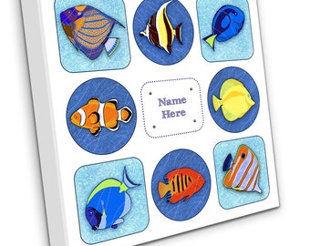 Personalised Tropical Fish on Canvas