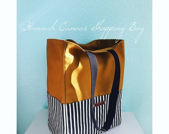 Hannah Canvas Shopping Bag, Grocery Tote, Canvas Tote, Market Bag, Travel Bag, Canvas Tote, Tote, Bag, Overnight Bag, Large Bag