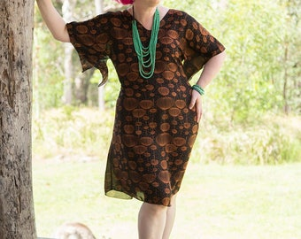Curvy Caftan, Australian made, kaftan, summer dress, kimono, ethical, sustainable, plus size, adjustable