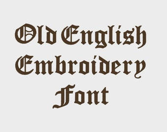 """Old English Embroidery Machine Font in multiple formats (1/2"""", 1"""", 2"""" & 3"""" sizes - upper and lower case) - INSTANT DOWNLOAD -  Item # 1019"""