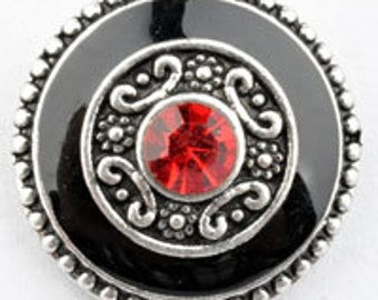Get Snappy! Black and Rhinestone Snap Button