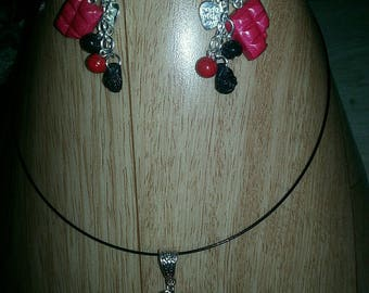 Complete chocolate set necklace and earrings many possible colors