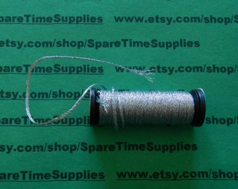 "Kreinik Balger - Ribbon - 1/16"" - silver cord - 5.5 yd - 1 spool - #KRC600015-001C"