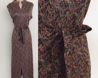 1970's Multicolored Lurex Party Dress Size XXL 2XL 3XL by Maeberry Vintage