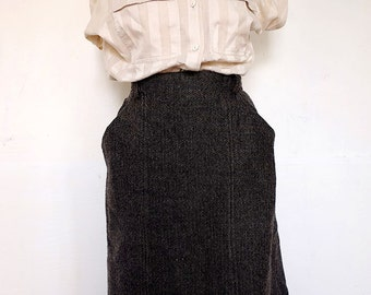 PENCIL SKIRT | 50s pencil skirt | Tweed skirt | Fish bones. PINUP