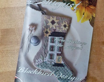 Sweet August, 3 Stockings for August, by Blackbird Designs...cross-stitch design