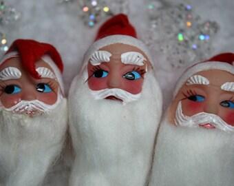 1 Vintage Santa Head Pick