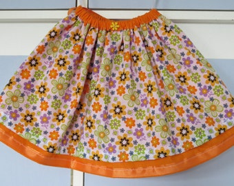 Orange double layer child's skirt