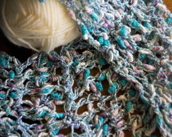 Mermaid Mesh Crocheted Cowl