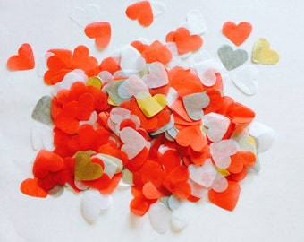 "1"" Red Love Heart Confetti, Valentines, Wedding, Birthday, Party, Gift"