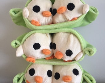 Two chick peas in a pod - plushie toy