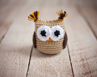 Crochet Stuffed Owl - Hoot the Owl - Amigurumi -  Doll - Girl or Boy - Toys