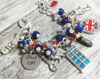 12th Doctor Who Bracelet in Stainless Steel | 12th Doctor | Twelve Bracelet | Whovian Jewelry | Whovian Gift | Capaldi Bracelet | Cyberman