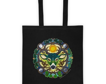 Green Stag Tote bag