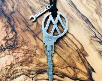 Rare Volkswagen Key Necklace - Vintage VW Key - VW Key - Volkswagen Beetle - VW Bus - Volkswagen Key