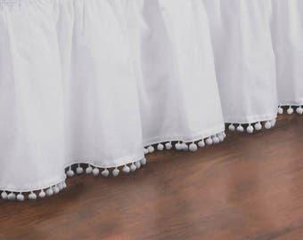 Pom Pom or Tassel Bedskirt