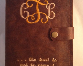 3rd Wedding Anniversary Gift  for her/him, Leather Journal