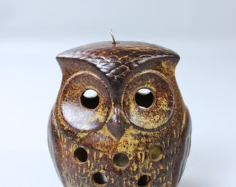 Vintage OWL ceramic OWL Lantern tea light holder candle holder Germany