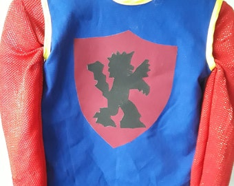 Knight's tunic and shirt for boys size 6